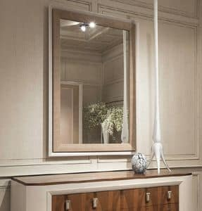 Princess Art. 106.751, Contemporary mirror in oak, for hotels