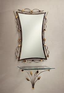 SP/300, Mirror with wrought and decorated iron
