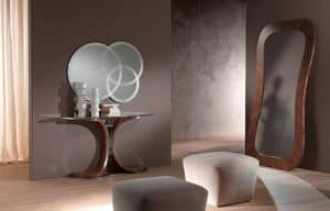 SP24 Morfeo, Mirror in canaletto walnut, for entrance rooms