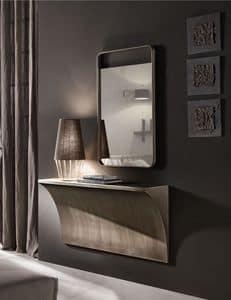 Tropea mirror, Mirror with wooden monobloc frame