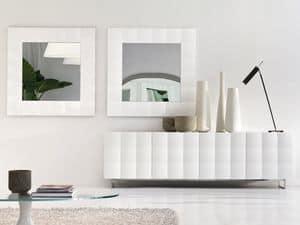 VENICE mirror, Square mirror with matte frame