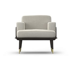 Armchair Coco, Armchair with oak wood structure