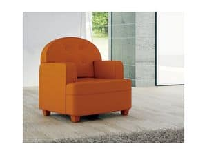 Picture of Biancaneve, armchair with modern lines