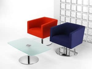 CONCEPT 660, Swivel chair with round chromed base