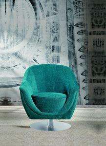 Frida swivel, Swivel armchair with round base