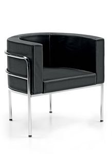 Globe 831, Armchair with wraparound backrest for waiting rooms