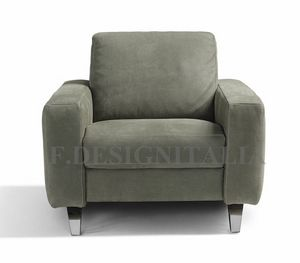 Ingrid, Armchair with wide squared arms
