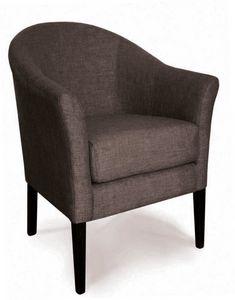 MAIORCA, Rounded armchair upholstered in velvet