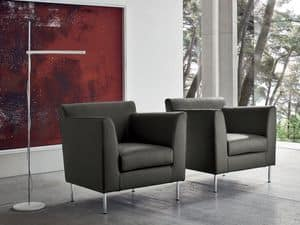 Picture of OMNIBUS, armchairs in leather or fabric