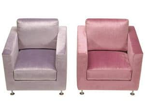 Picture of Pink Armchair, modern design armchair