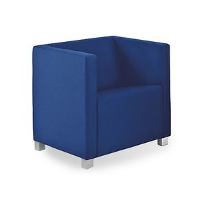 Rex 1P, Armchair with square design, for waiting areas
