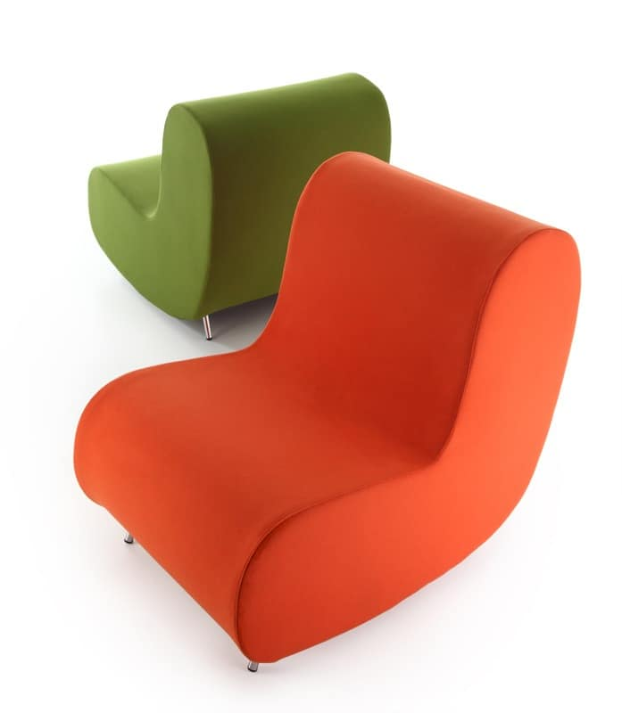 Armchair with fire retardant padding comfortable and for Small contemporary armchairs