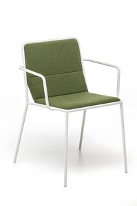 Tres P, Armchair with upholstered seat suited for contract