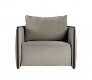Trust armchair, Armchair with pillow with removable upholstery