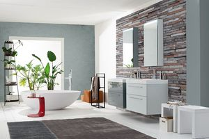 Byte 2.0 comp.03, Bathroom cabinet with drawers with handle