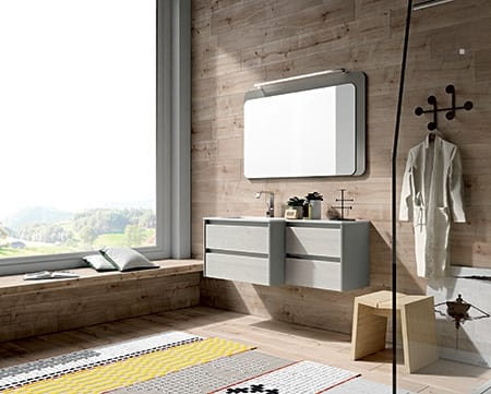 Dress 2.0 comp.05, Wooden bathroom cabinet with mirror