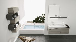 FLY 07, Complete furniture for bathrooms with wall units