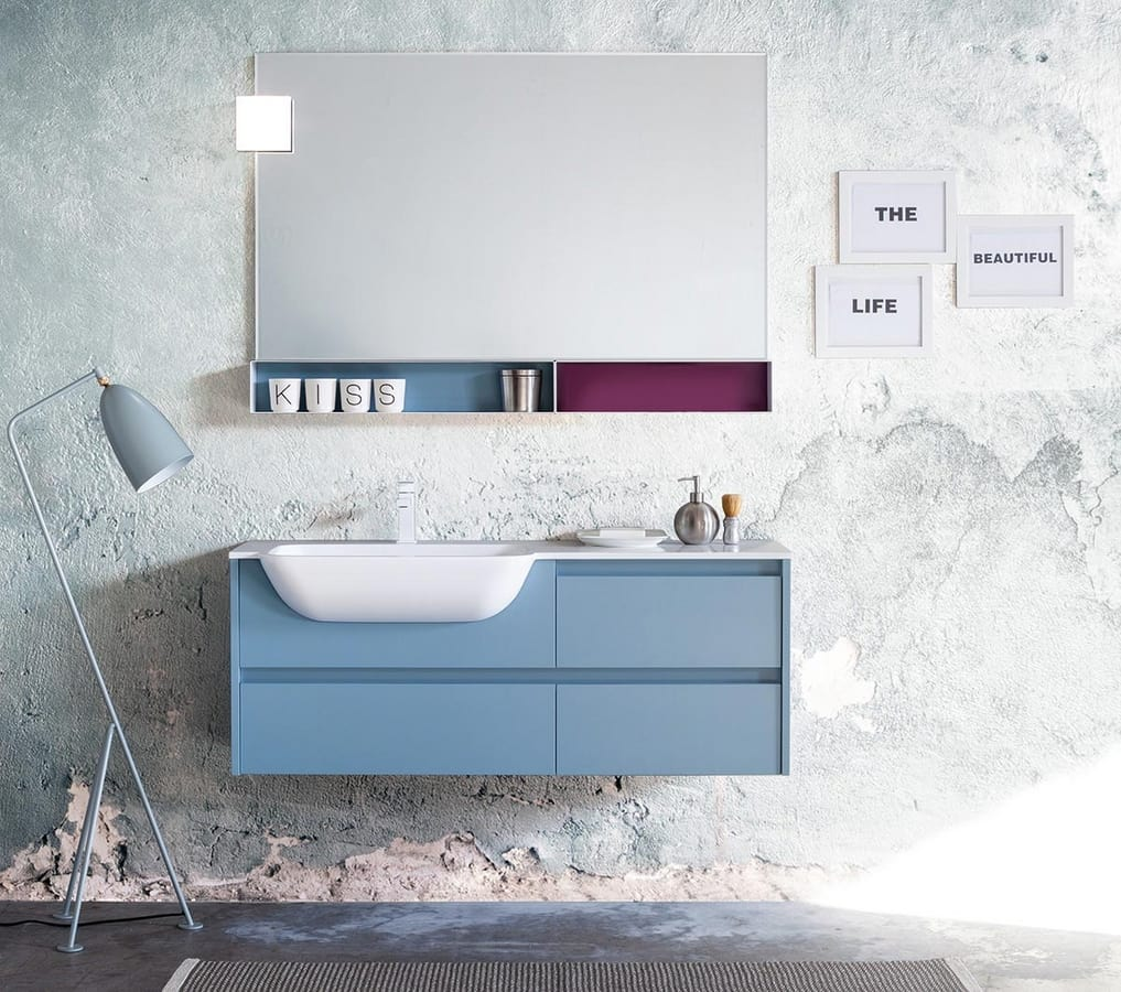 Kami comp.03, Bathroom cabinet with customizable dimensions