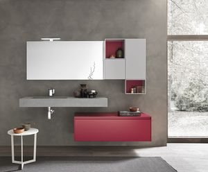 Lime 2.0 comp.18, Bathroom wall cabinet, with storage elements