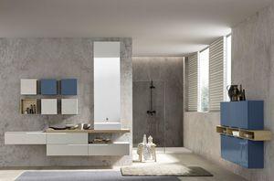 Lime Ø comp.002, Bathroom cabinet with modern and minimal design