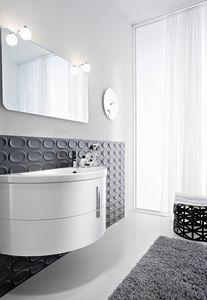 Moon comp.01, Halfmoon-shaped bathroom cabinet