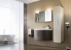 Moon comp.08, Bathroom furniture with essential design