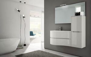Smyle comp.03, Bathroom cabinet with a sinuous design