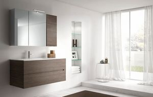 Smyle comp.06, Bathroom cabinet with mirrored wall unit