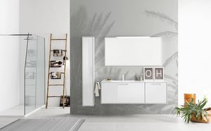 Summit 2.0 comp.13, Bathroom cabinet with mirror with frame and integrated light
