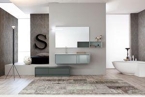 Tender comp.02, Composition of modern style bathroom furniture