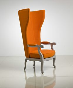 5603 Arne XV, Armchair in leather or fabric, with high back