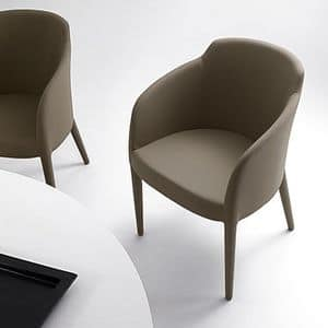 Brigida, Upholstered armchair for waiting rooms