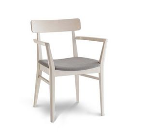 C69, Wooden chair with armrests for hotels