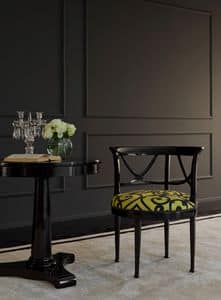 Camilla, Armchair in cherry, in contemporary style