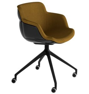 Choppy Sleek UR, Armchair with large seat and wheels