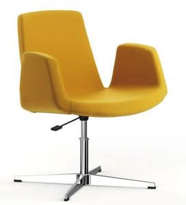Picture of JOLLY with disc base, chairs with metal frame