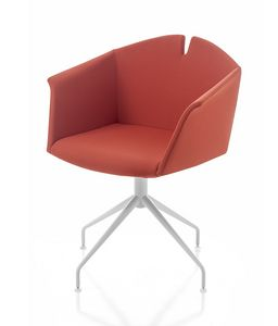 Kuad spider, Armchair with trestle base, even with castors