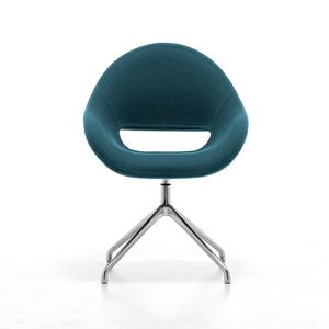 Palm SP, Swivel chair with shell in flame retardant foam