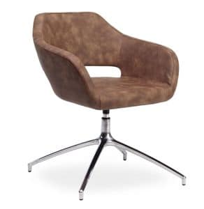 Regan, Chair with swivel seat suited for offices
