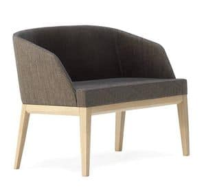 1090, Sofa with wooden structure for home and office