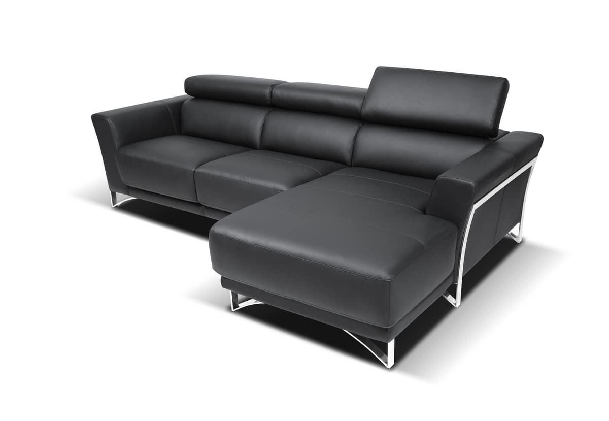 Sofa In Steel Fir Polyurethane And Polyester Idfdesign