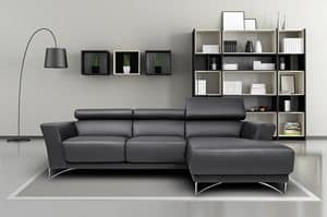 Azelia, Sofa in steel, fir, polyurethane and polyester