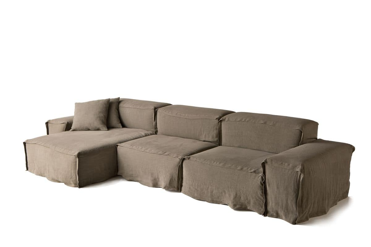 Sofas stuffed seats sofas modern modular squared idfdesign for Bassett sectional sofa with chaise