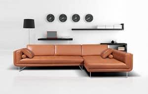 Clarissa modular, Modular sofa with tufted seat, in polyurethane