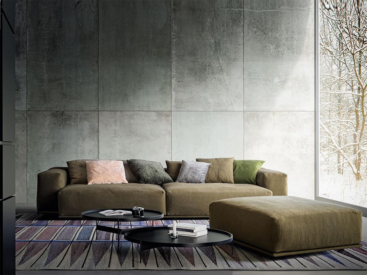 modern sofa with 2 levels back for living rooms idfdesign. Black Bedroom Furniture Sets. Home Design Ideas