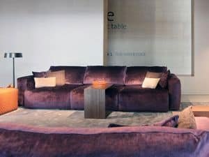 Gemma sofa, Sofa covered with removable fabric or leather