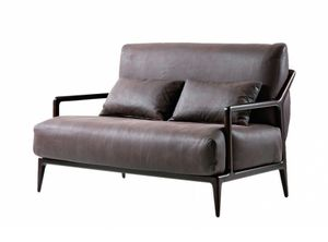 Indigo 2-seater sofa, Two-seater sofa with Canaletto walnut structure