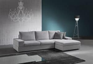 Live, Elegant sofa with integrated sound system bluetooth