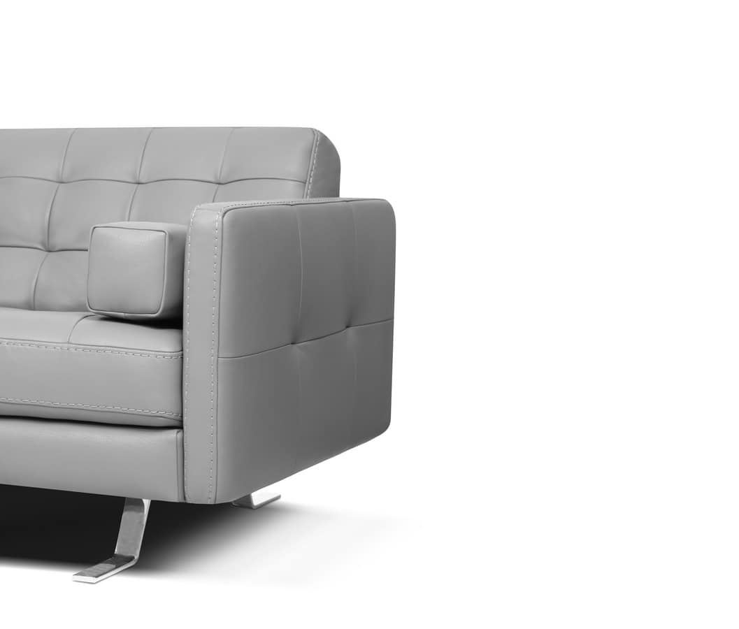 modern square sofa with tufted backrest idfdesign