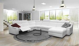 Sofa With Aluminum Frame Padded In Rubber Idfdesign